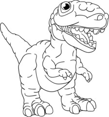 vector - a small dinosaur isolated on background
