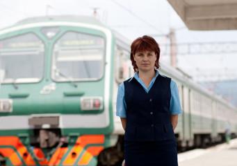 Woman worker railroad
