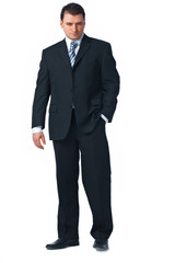 Full length of a confident young business man