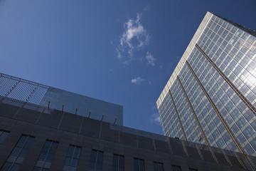 skyscraper in blue sky