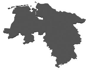 Flagge von Niedersachsen - freigestellt