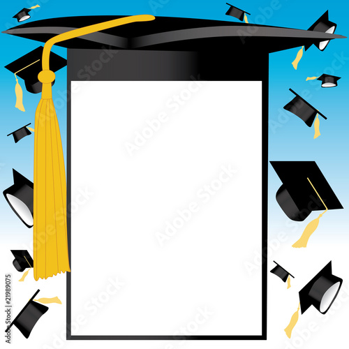 """Graduation background vector"" Stock image and royalty ..."