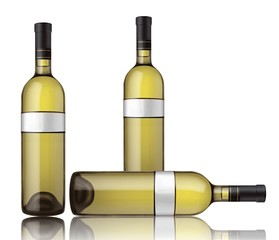 Three bottles of white wine
