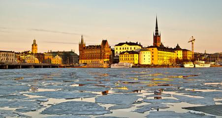 Coucher de soleil à Stockholm