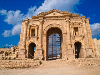 Hadrian's Arch of Triumph in Jerash