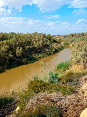 River Jordan in Bethany, border between Jordan and Israel
