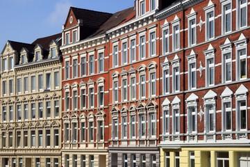 Wohnhaus,Hausfassade,Mietswohnungen,Kiel,Deutschland
