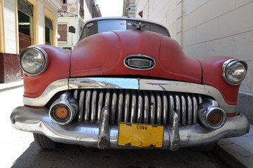 Garden Poster Cars from Cuba Oldtimer in Havanna