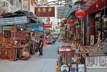 Deurstickers Hong-Kong China, Hong Kong antique street market