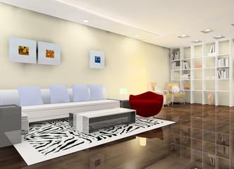 A bright living room design