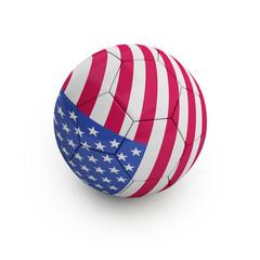 Fußball USA (mit Freistellungspfad/clipping path)