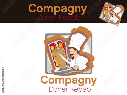 Doner kebab illustration vectorielle d 39 un cuisinier for Cuisinier kebab
