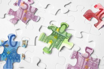 Puzzle Geldscheine