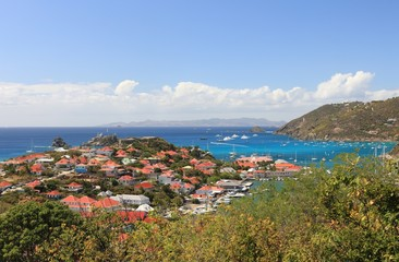 Beautiful St. Barths in the Carribean on sunny day