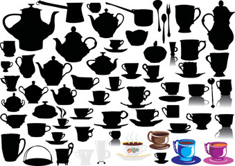 set of different cups