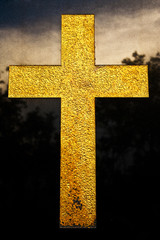 Gold color cross