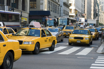 Photo sur Aluminium New York TAXI New York cabs