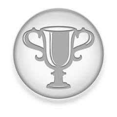 """White Button / Icon """"Award Cup"""""""