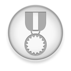 "White Button / Icon ""Award Medal"""