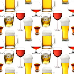 Seamless alcohol beverages