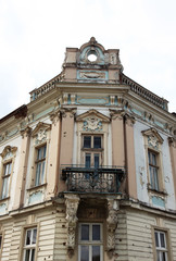 Nice facade with balcony