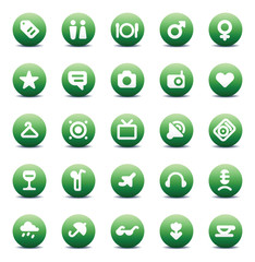 Vector icons for travel and leisure