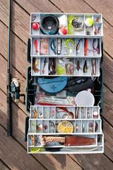 Fishing Tackle Box and Gear