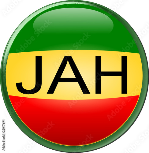 Rasta Round Jah Button Icon Stock Image And Royalty Free Vector