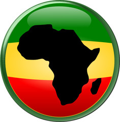 Africa on Rasta Round Icon button