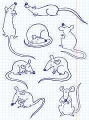 Doodle rat (mouse) set