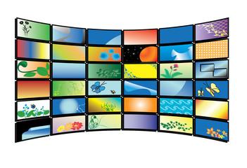 vector color tv monitors