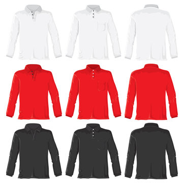 Polo shirts with long sleeves