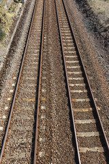 Two British railway line tracks.