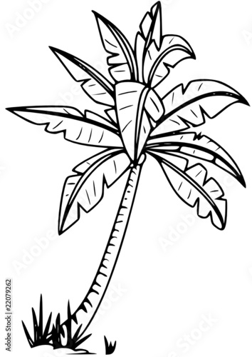 Coloring Page Tropical Island