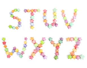color lucky stars origami alphabet