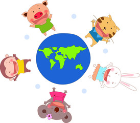 Animal around the world.love world