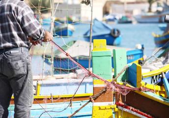 fisherman sorting nets