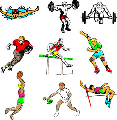 sport illustrations group