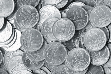 heap of silver coins