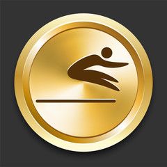 Long Jump on Golden Internet Button
