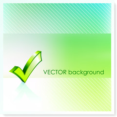Check Sign on Vector Background