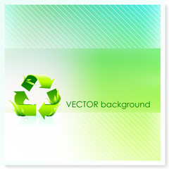 Recycle Symbol on Vector Background