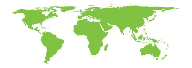 Vector world map stylization