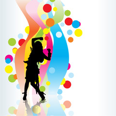 bright colours dancing girl