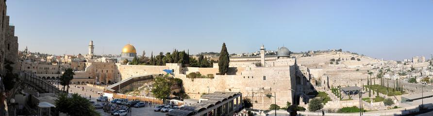 Jerusalem Western Wall panorama