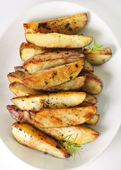 roasted garlic potatoes vertical