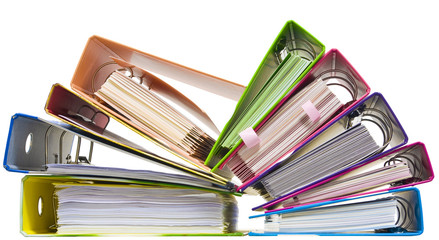 Rainbow paper folders