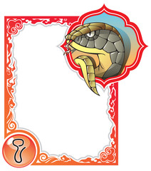 Snake, the sixth sign of the Chinese zodiac, vector