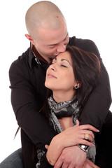 Heterosexual loving couple