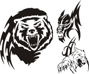 The brown bear, polar bear and wolf. Tribal predators.